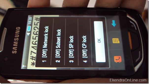 Samsung Monte s5620 all Unlock Codes