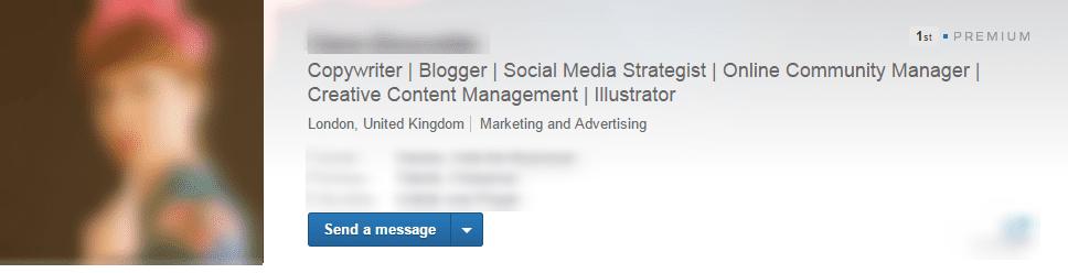Example of a good LinkedIn headline