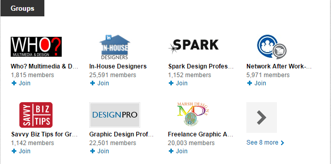 Join LinkedIn groups to gain profile visibility