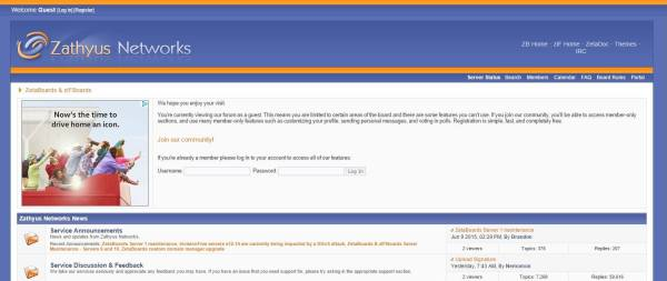 Zathyus Networks Support Forum