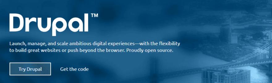 The Drupal homepage.