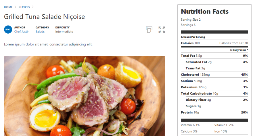 An example of a WordPress recipe.