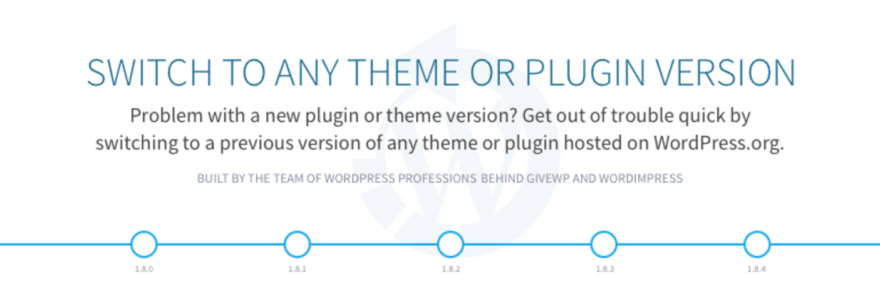 The WP Rollback plugin.