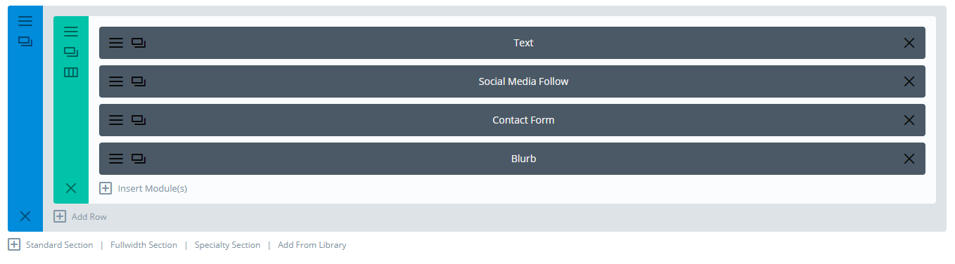 contact form on click