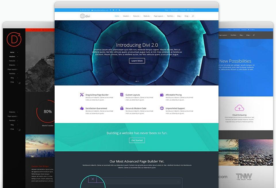 Divi WordPress theme - Elegantthemes