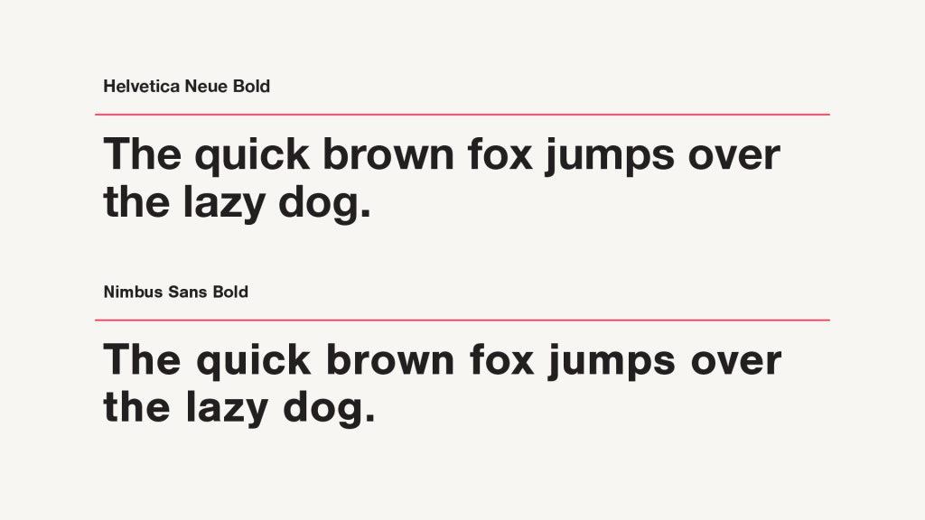 Helvetica Neue Vs Helvetica