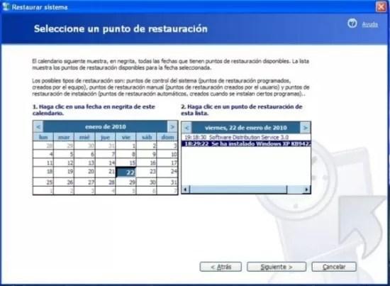Imagen - Restaurar el sistema con Windows