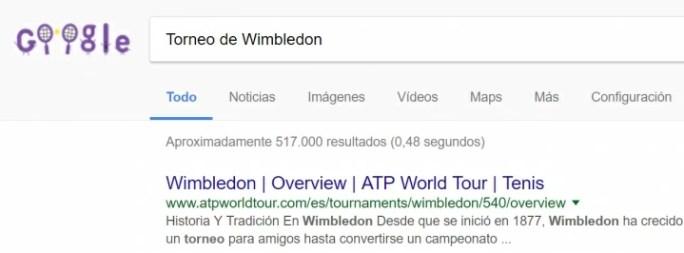 Imagen - Google dedica un Doodle al 140 aniversario de Wimbledon