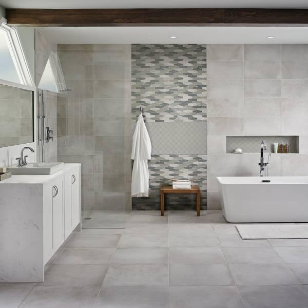 msi stone mosaic tile gray glossy arabesque