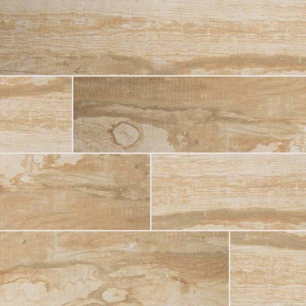 salvage honey wood look tile 6x40