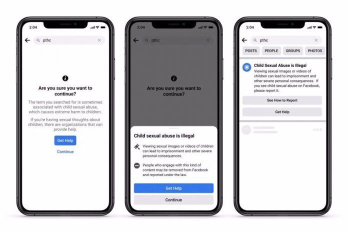 Facebook prueba nuevas herramientas para combatir la explotación infantil en búsquedas y al compartir contenidos