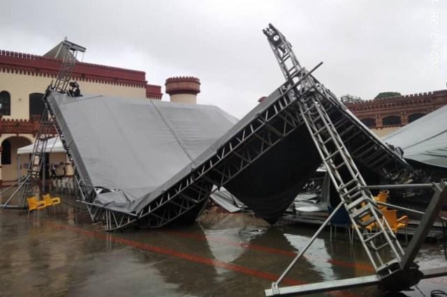 Se desplomó estructura instalada en el Cuartel de la Montaña para homenajear a Hugo Chávez