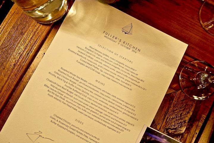 The Sail Loft Greenwich menu Emma Inks