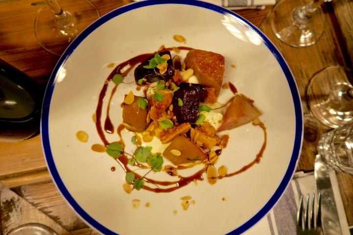 The Sail Loft Greenwich vegetarian starter Emma Inks
