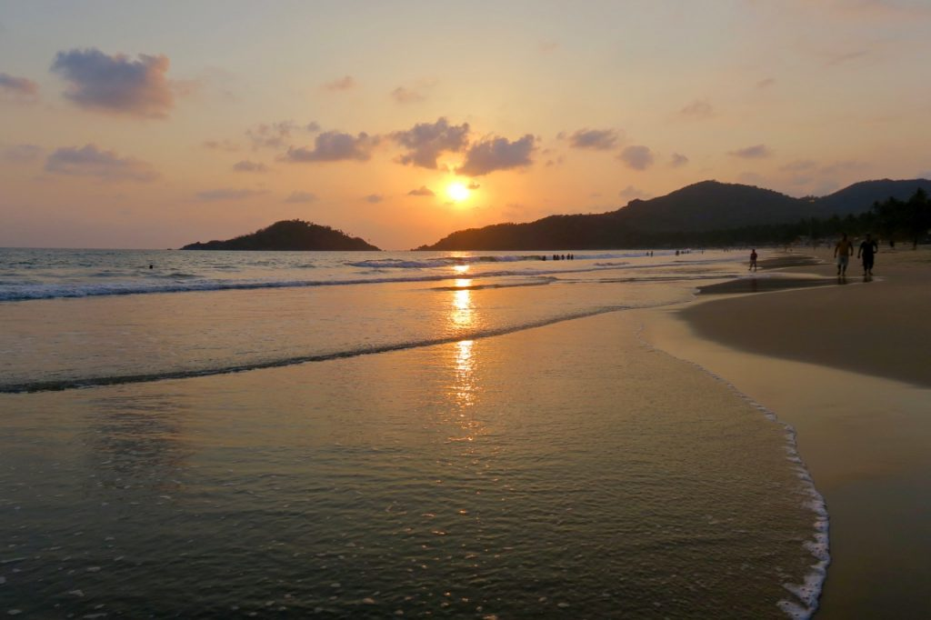 India Goa Beach Sunset Travel Roundup 2016