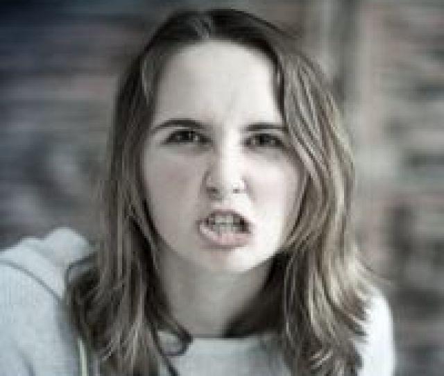 Very Angry Teen Girl Saying I Hate You
