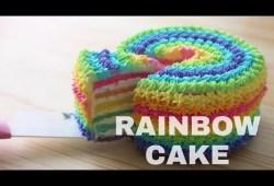 Cara Memasak Resep Rainbow Cake Pankobunny Ramadhan
