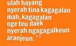 Kata Kata Bijak Bahasa Sunda Ulah Nyerah
