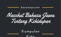 Kumpulan Nasehat Bahasa Jawa Tentang Keidupan Beserta Arti Dan Penjelasannya