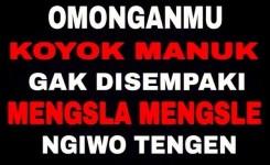Kata Kata Lucu Bahasa Jawa Kasar