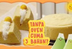 Cara Memasak BOLU KUKUS 3 BAHAN | RESEP BOLU TANPA OVEN | NO OVEN SPONGECAKE | STEAMED EGG CAKE