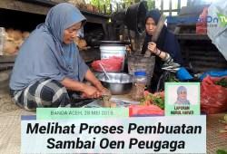 Cara Memasak Proses Pembuatan Sambai Oen Peugaga, Lalapan Unik Menggunakan 44 Jenis Daun