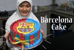 Cara Memasak Cara Menghias Kue Logo Barcelona | How To make Barcelona FC Cake
