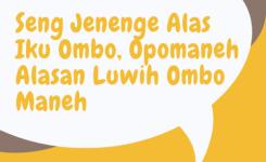 Kata Mutira Bahasa Jawa Lucu