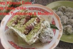 Cara Memasak Resep Klepon Cake, Resep Onde onde Cake, Cake Tradisional Modern
