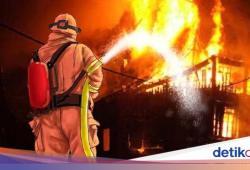 Korsleting Listrik, 3 Rumah di Makassar Hangus Terbakar