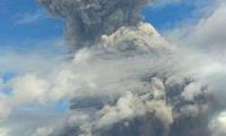 Gunung Sinabung Erupsi Lagi Pagi Ini