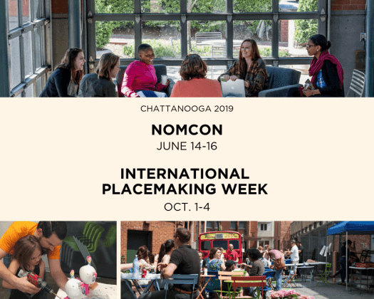 Pictured is a graphic advertising Nomcom and International Placemaking Week