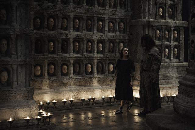 © HBO - Maisie Williams as Arya Stark, Tom Wlaschiha as Jaqen H'Ghar