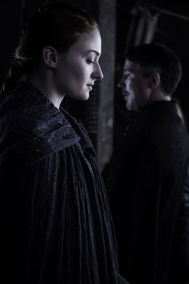 © HBO - Sophie Turner as Sansa Stark, Aidan Gillen as Littlefinger