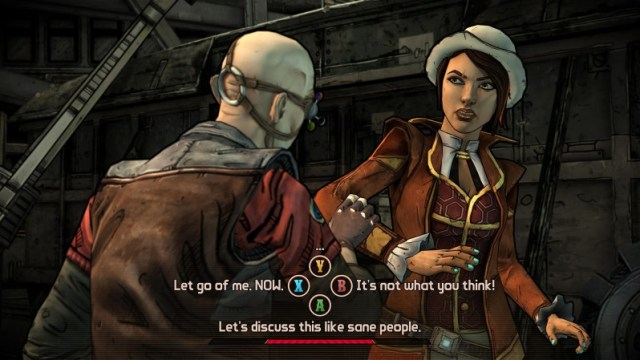 Tales from the borderlands gameplay screen