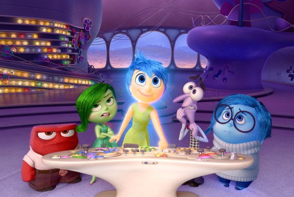 "Disney•Pixar's ""Inside Out"" takes us to the most extraordinary location yet - inside the mind of Riley. Like all of us, Riley is guided by her emotions - Anger (voiced by Lewis Black), Disgust (voiced by Mindy Kaling), Joy (voiced by Amy Poehler), Fear (voiced by Bill Hader) and Sadness (voiced by Phyllis Smith). The emotions live in Headquarters, the control center inside Riley's mind, where they help advise her through everyday life. Directed by Pete Docter and produced by Jonas Rivera, ""Inside Out"" is in theaters June 19, 2015."