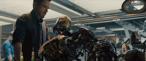 avengers tony stark and robot