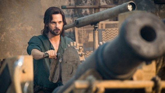 Tom Riley as Leonardo da Vinci. Photo by Starz.