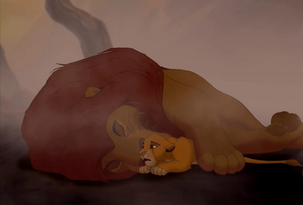the lion king mufasas death