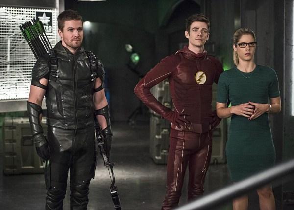 Barry Allen, Oliver Queen, Felicity Smoak - The Flash