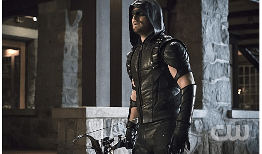 """Arrow -- """"Blood Debts"""" -- Image AR410a_0249b.jpg -- Pictured: Stephen Amell as The Arrow -- Photo: Katie Yu/ The CW -- © 2015 The CW Network, LLC. All Rights Reserved."""