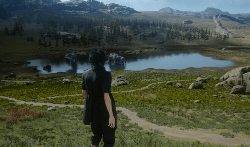 Noctis Looking Out Over the World of Eos