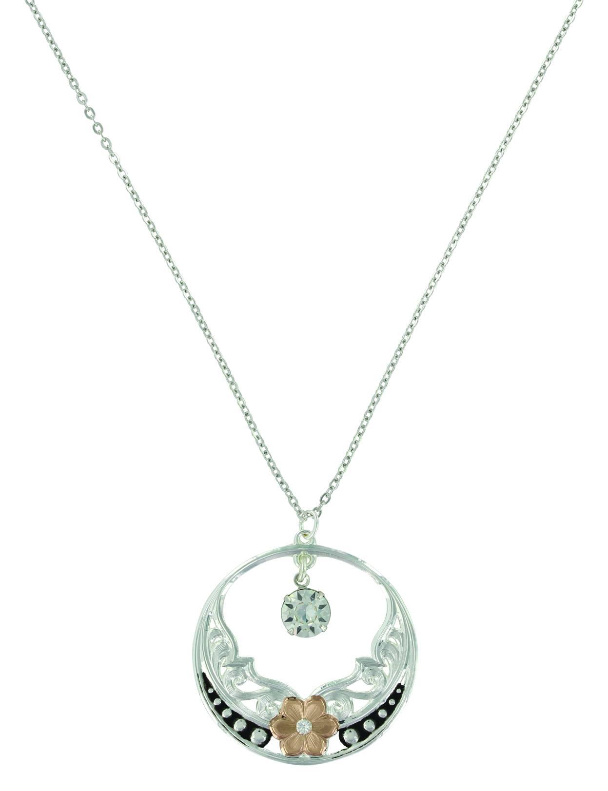 Montana Silver Evening Stars Wild Rose Necklace