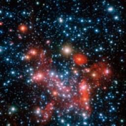 Samanyolu, galaksimizin merkez bölgeleri yakın kızılötesinde ESO'nun Çok Büyük Teleskobu üzerindeki NACO aygıtı ile gözlendi. ((Telif:ESO/S. Gillessen et al.)