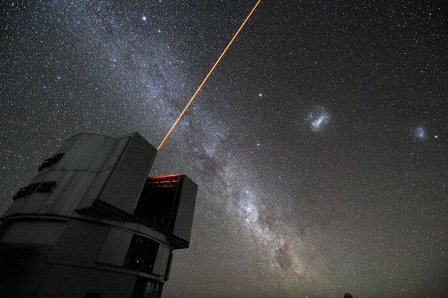 La estrella de guiado láser del VLT