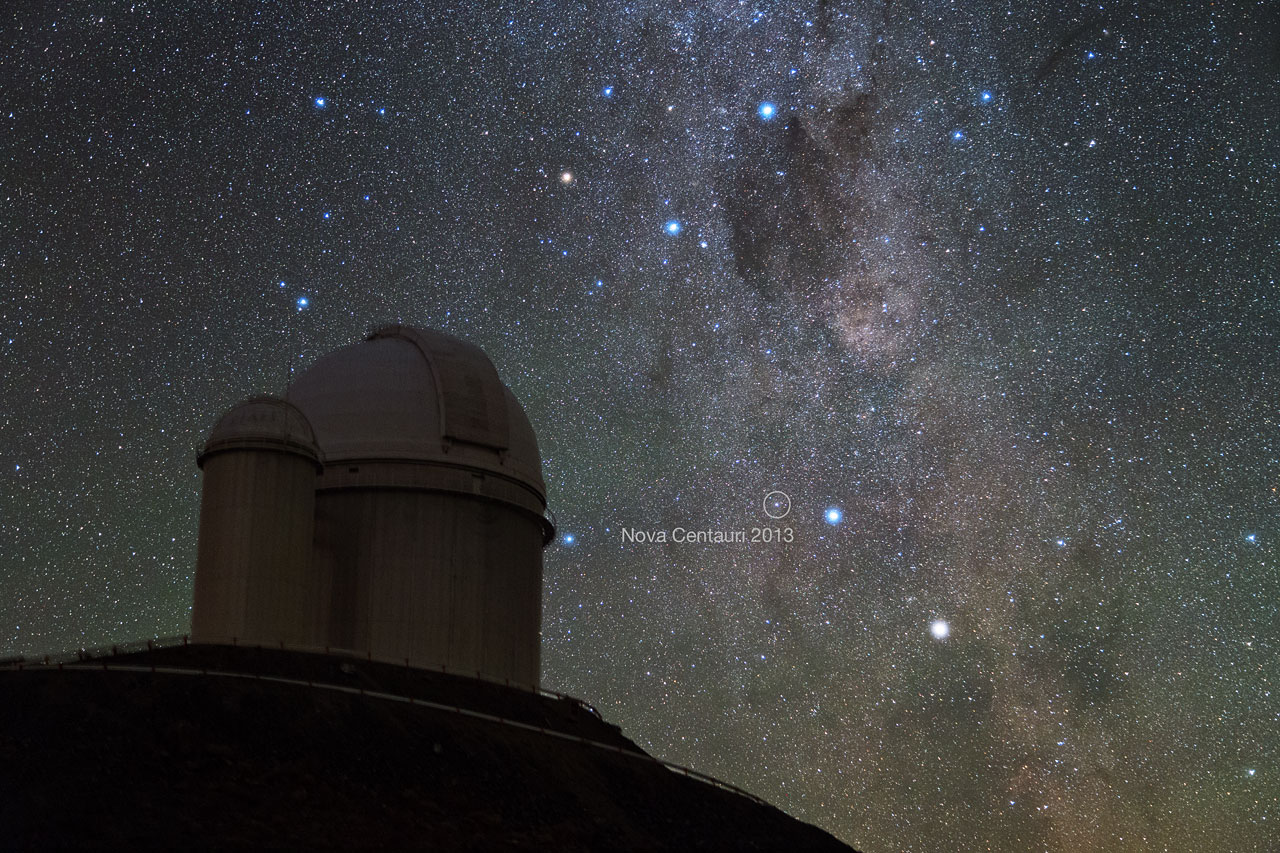 Nova Centauri 2013 seen from La Silla