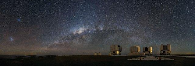 Una visión galáctica desde la plataforma de observación
