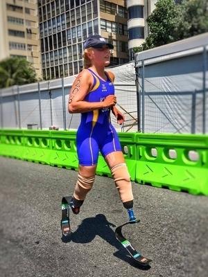 Foto de João Maia da atleta no triatlo, em um domingo, no Rio 2016