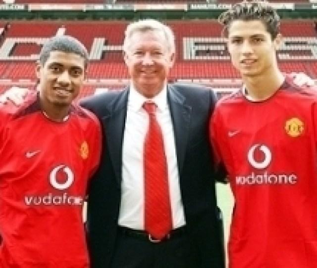 Cristiano Ronaldo Kleberson Alex Ferguson Apresentacao Manchester United