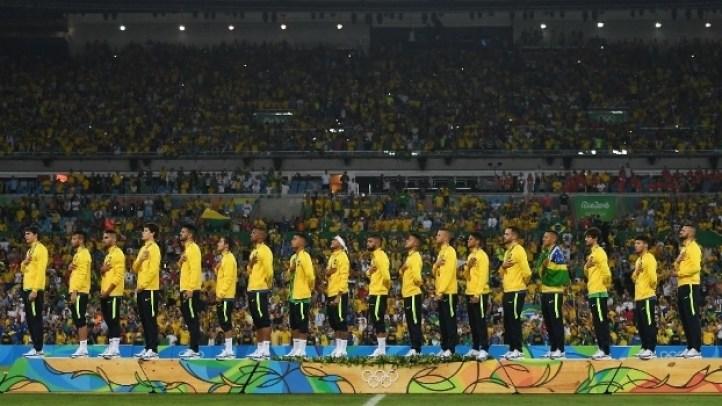 Jogadores da seleção brasileiro com o ouro histórico no futebol